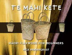 Anyone can learn to make a plaited kete, one of the oldest and most popular of Maori art forms, from the leaves of New Zealand flax (phormium tenax). Te Mahi Kete gives detailed, step-by-step instructions, illustrated with numerous line drawings and black-and-white photographs, for preparing the flax and plaiting two simple types of kete. It also shows variations in technique for starting and finishing, making the handles and incorporating a decorative pattern.