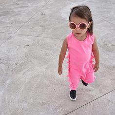All pink everything #theminiclassy #theORIGINALdinos #rompers #kidapproved #highend #streetwear #kidsfashion @miss.averyrose