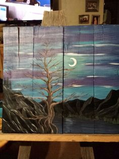 Hand painted pallet art by Stacie Sheets