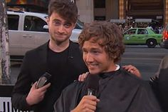 Would you let Harry Potter (erm we mean Daniel) cut your hair?