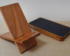wooden phone stand - Google Search More
