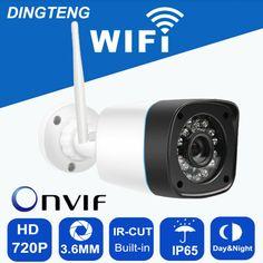 720p WIFI Camera HD IP 1MP Megapixel Onvif Outdoor IP65 Wireless Security  CCTV IP Cam IR fe1d429550