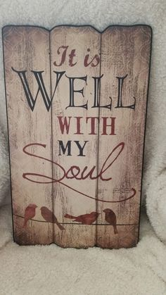 "14"" X 23"". ""It is Well With my Soul"".                                                                                                                                                      More"