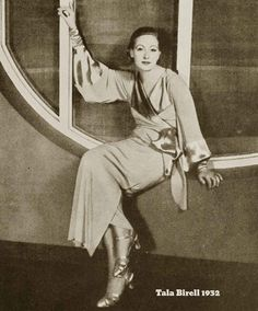 Tala Birell  |   1932  |  winter  fashion  |  Via  glamourdaze