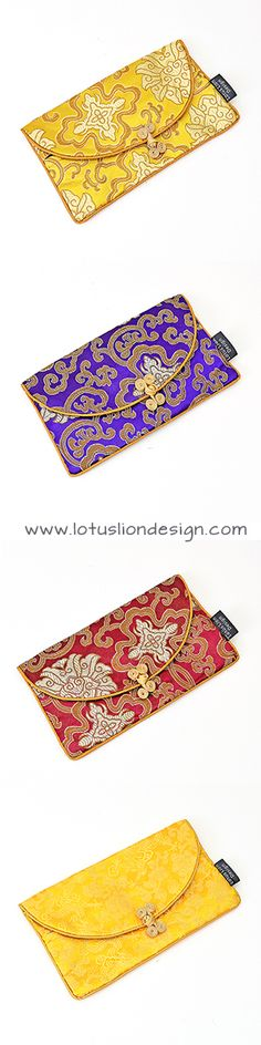$10 - These beautiful hand-made brocade Juzu Bags are the perfect size to safely carry your Nichiren Buddhist Prayer Beads and Gongyo book! Each bag features a convenient magnetic closure on the front flap, as well as a front zipper pocket to carry Nam-Myoho-Renge-Kyo cards, tissues, etc. Measures approximately 20cm x 11cm. Nichiren Buddhist Prayer Beads - SGI Beads - Juzu Bags - Nam Myoho Renge Kyo NMRK