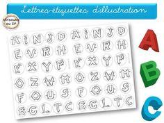 Illustration d'un texte ou poème sur l'alphabet
