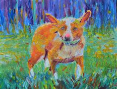 Impressionist custom pet portrait Pet portrait by TanabeStudio