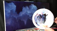 At The Edge Of Light a timelapse oil cloud night sky and moon painting by Tim Gagnon Moon Painting, Painting Videos, Art Tips, Night Skies, Art Lessons, Cool Art, Artsy, Tutorials, Clouds