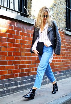 Boot and Jeans Combinations for Fall via @WhoWhatWear (I don't know how these people are making cropped pants look good with ankle boots but I want it!)