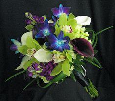 blue purple green wedding bouquets - Google Search