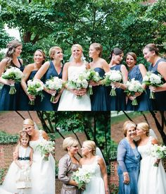 Clutches of white and green for the bride and her girls - Photographed by Lauren Friday Photography.