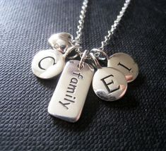 Family Love Necklace personalized sterling silver by thejewelrybar, $64.00