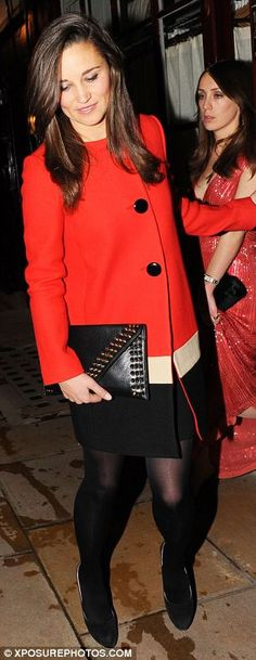 Pippa Middleton pictured leaving Loulou's nightclub in Mayfair
