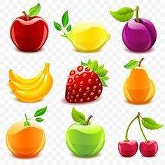 Illustration about Set of 9 glossy fruit icons. Illustration of sweet, food, lemon - 21242278 Fruit Icons, Food Icons, Fruit Illustration, Food Illustrations, Fungal Rash, Fatayer, Fruit Vector, Fruit Clipart, Drink Icon