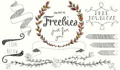 FAIBLE: Hübsche Blumenkränze, Pfeile und andere Illustrationen {Freebies}