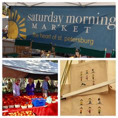 Saturday Morning Market in downtown St. Pete, Florida.