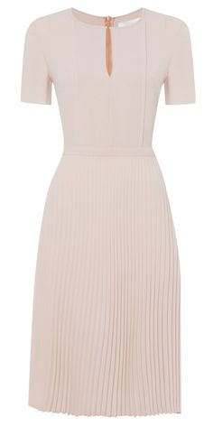 Hugo Boss BOSS Diblissea light pink pleated dress