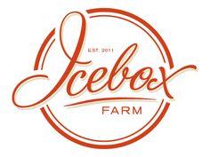 Icebox Farm Logo Concept (Red) designed by Kari Rehnlund. Typography Logo, Logo Branding, Typography Design, Gfx Design, Circular Logo, Logo Samples, Farm Logo, Letterhead Design, App Design Inspiration