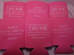 Personalized Bachelorette Koozies Design by odysseycustomdesigns
