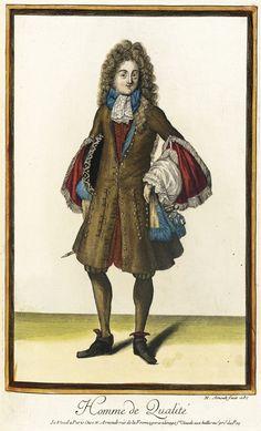 Recueil des modes de la cour de France, 'Homme de Qualité' Nicolas Arnoult (France, circa 1671-1700) France, Paris, 1687
