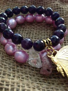 Gorgeous Dark Purple Faceted Amethyst Bracelet. By Oohlalagems on Etsy, $49.00