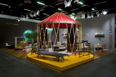 richard lampert presents new collection with tent installation