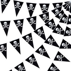 Durable material: The pirate pennant flag is made of quality plastic, which will not easily tear or fade even in the rain, thus can be assembled onto your backyard, gate and elsewhere outdoors. #piratethemed #partydecor #amazon #gentlemanpirateclub #partyflavors Birthday Flags, Birthday Backdrop, Pirate Birthday, Pirate Theme, Pirate Party Favors, 21st Birthday Decorations, Party Giveaways, Happy 21st Birthday