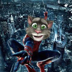 Talking Tom as Spider Man!