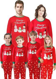 6667ea8610 Christmas Matching Family Pajamas Santa Pajamas Boys Girls Children Cotton Sleepwear  Toddler Pants Set Size 2T
