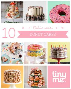 Who doesn't love donuts? No one! That's why we are pretty certain you are going to love these 10 Delicious Donut Cakes that are sure to make every occasion that little bit extra special!