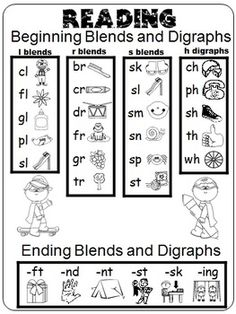 FREE Blends Book for kids to color and trace - this is a fun way ...