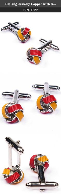 DaCang Jewelry Copper with Stainless Steel Plated Mens Red and Yellow Enamel Love Knot Cufflinks. *Thank you for visiting Angelbela Store. We are specializing in jewelry making especially Cufflinks for Shirt,Tieclip for T-shirt and Collar Stay for French Shirts. *If you like this product, we advise you add it to wish list now, so that we will inform you immediately once it has a discount. *And you can click our brand name which on the top of the title; you can find more jewelry making…