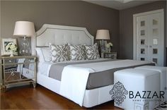 6 Prosperous Tips AND Tricks: Bedroom Remodel Before And After Laundry Rooms bedroom remodel ideas budget.Guest Bedroom Remodel Home bedroom remodel grey benjamin moore.Bedroom Remodel On A Budget House. Gray Bedroom, Home Bedroom, Bedroom Decor, Bedroom Ideas, Grey Bedding, Master Bedrooms, Linen Bedding, Pretty Bedroom, Linen Pillows