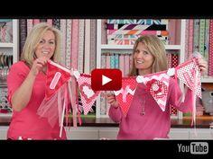 Riley Blake Designs' Valentines Pennant Video Tutorial