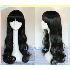 70CM Long curly RWBY Blake Belladonna Black Cosplay Wig/ Daily Wig,... ($27) ❤ liked on Polyvore featuring costumes, party costumes, black costume, party halloween costumes, cosplay costumes and cosplay halloween costumes