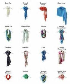 Resultado de imagen de scarf tying