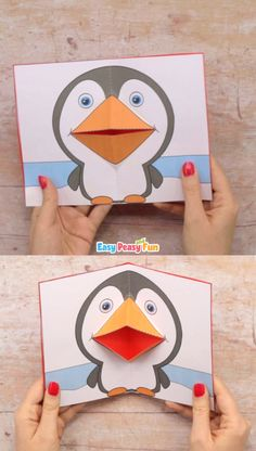 If you need a fun craft project to add to your polar animals study unit this penguin pop up card template will help you out. If you need a fun craft project to add to your polar animals study unit this penguin pop up card template will help you out. Paper Crafts For Kids, Preschool Crafts, Diy For Kids, Fun Crafts, Card Crafts, Stick Crafts, Nature Crafts, Pop Up Card Templates, Art Template