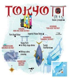 Tokyo map by Scott Jessop.