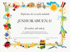 Diplomas gratis para imprimir | geekalia.