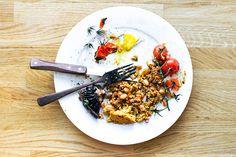Pumpkin Cornbread Baked Bean Casserole (& Full English Breakfast) // .wandercrush.