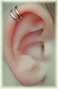 PIERCED   Double Wrap Cartilage Ear Cuff   Mixed by ChapmanJewelry, $20.00 http://pinterest.com/pin/181269953723576320/