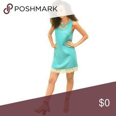 Chic Look 03 You are a vision of perfection in this look! A great look for a date night or an outing with the girls. The look consists of:  1) Sleeveless Crochet-Trim Dress in Teal 2) Tear Drop Necklace and Earring Set in Pink; and 3) Chunky Heel Tasseled Sandals  To purchase, add individual items to bundle to get 15% off the total look. Other