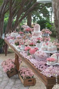 Vintage To Modern Wedding Dessert Table Ideas ❤ See more: www. ideas party events simple 42 Wedding Dessert Table Ideas For Every Theme Candybar Wedding, Wedding Desserts, Wedding Decorations, Table Decorations, Wedding Cakes, Wedding Centerpieces, Wedding Dessert Buffet, Vintage Centerpieces, Tall Centerpiece