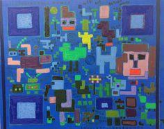 An escape hatch, 탈출구 72.7cmx72.7cm, Oil painting on canvas, YOUNSEON CHOI, 2016