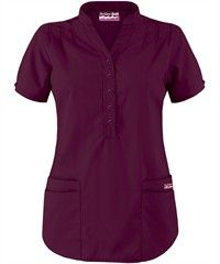Butter-Soft Scrubs Mandarin Collar 4-Pocket Top