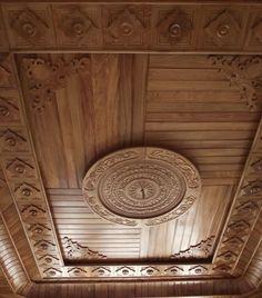 Wooden Ceiling Design, Simple False Ceiling Design, Interior Ceiling Design, House Ceiling Design, Wooden Ceilings, Copper Ceiling, Dome Ceiling, Ceiling Decor, Home Entrance Decor