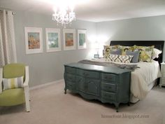 Use a dresser or storage trunk as a footboard with storage for your bed