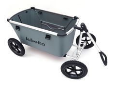Cart for outdoor use, foldable into a small package. Light weight, ergonomic and easy to tow.