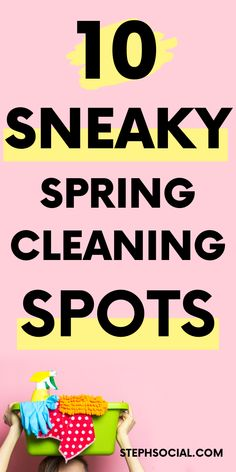 Sneaky Spring Cleaning Checklist - Steph Social For those who fellas realize me personally, you Spring Cleaning Schedules, Deep Cleaning Checklist, Deep Cleaning Tips, Natural Cleaning Products, Spring Cleaning Tips, Speed Cleaning, Cleaning Day, Cleaning Wipes, Cleaning Hacks
