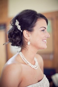Wedding Hair Comb Bridal Hair Accessory with Pearls and Crystals and Rhinestones Bridal Head Piece, Crystal and Pearl Haircomb: Taylor Comb